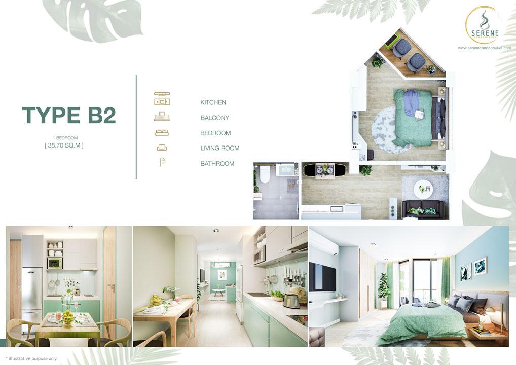 One Bedroom unit B2