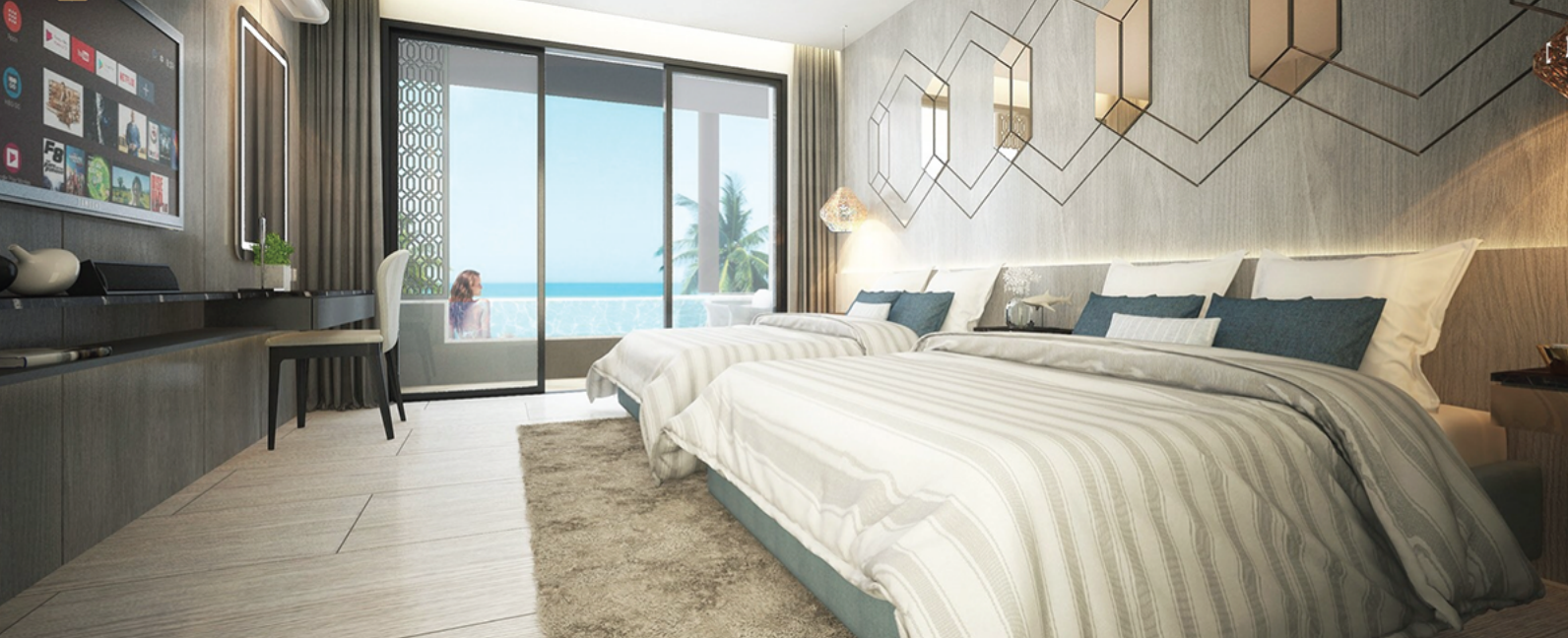 New sea-view condominium on Surin beach