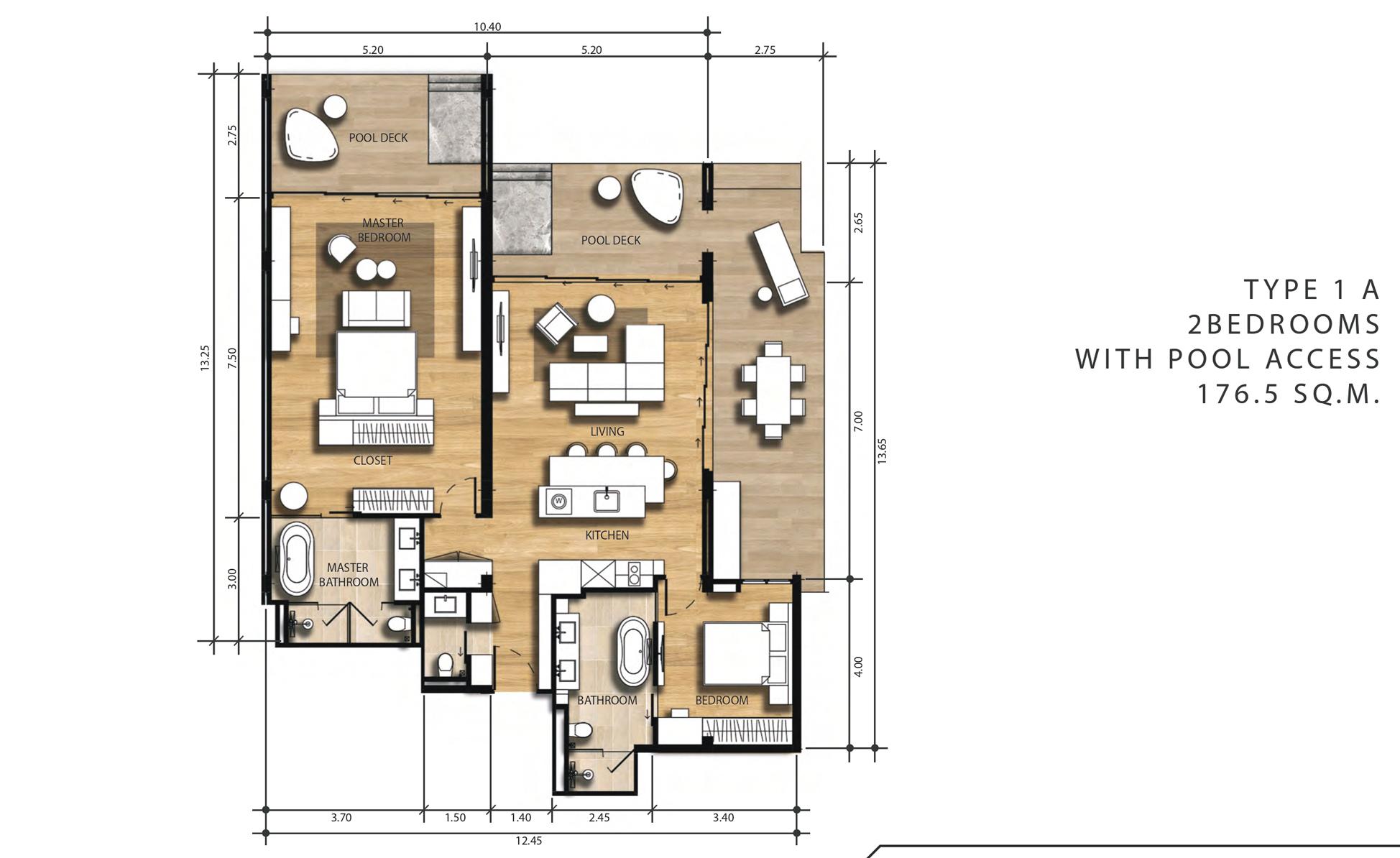 2 Bedroom Suite Pool Access