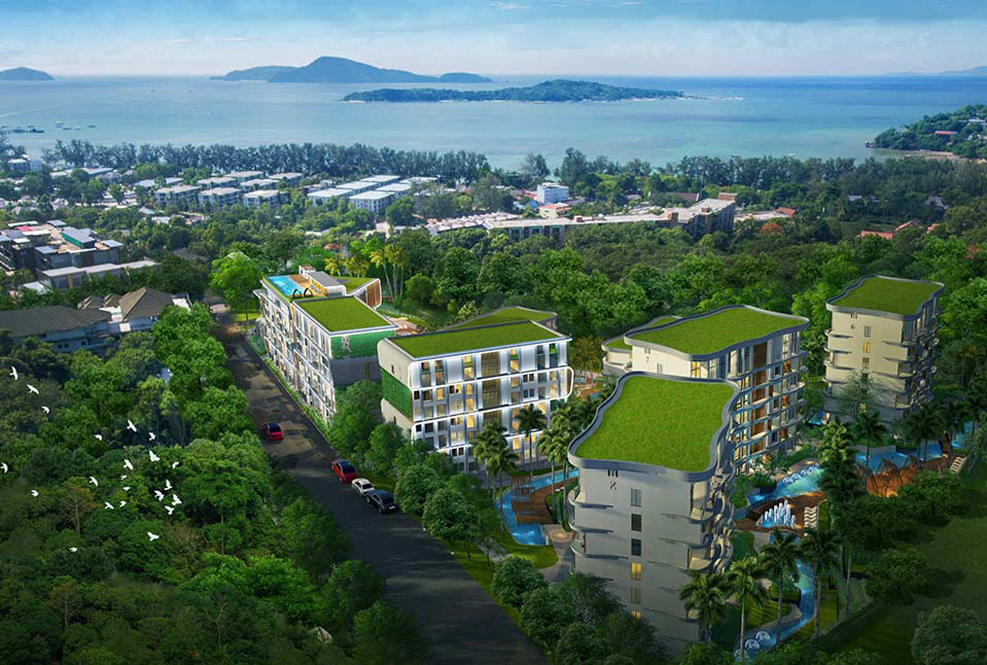 1 Bedroom unit in the large development in Rawai