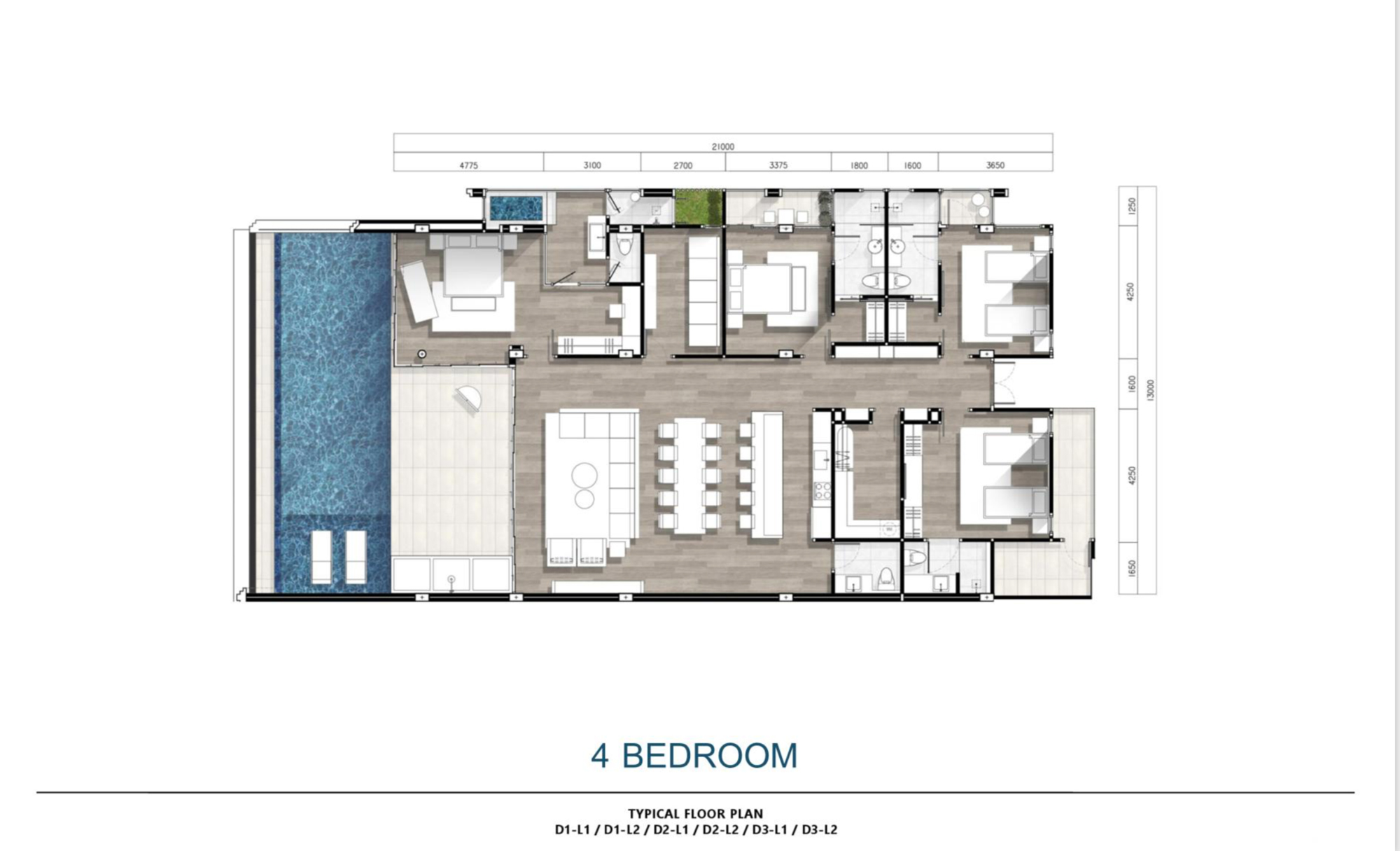 4 Bedroom Condo