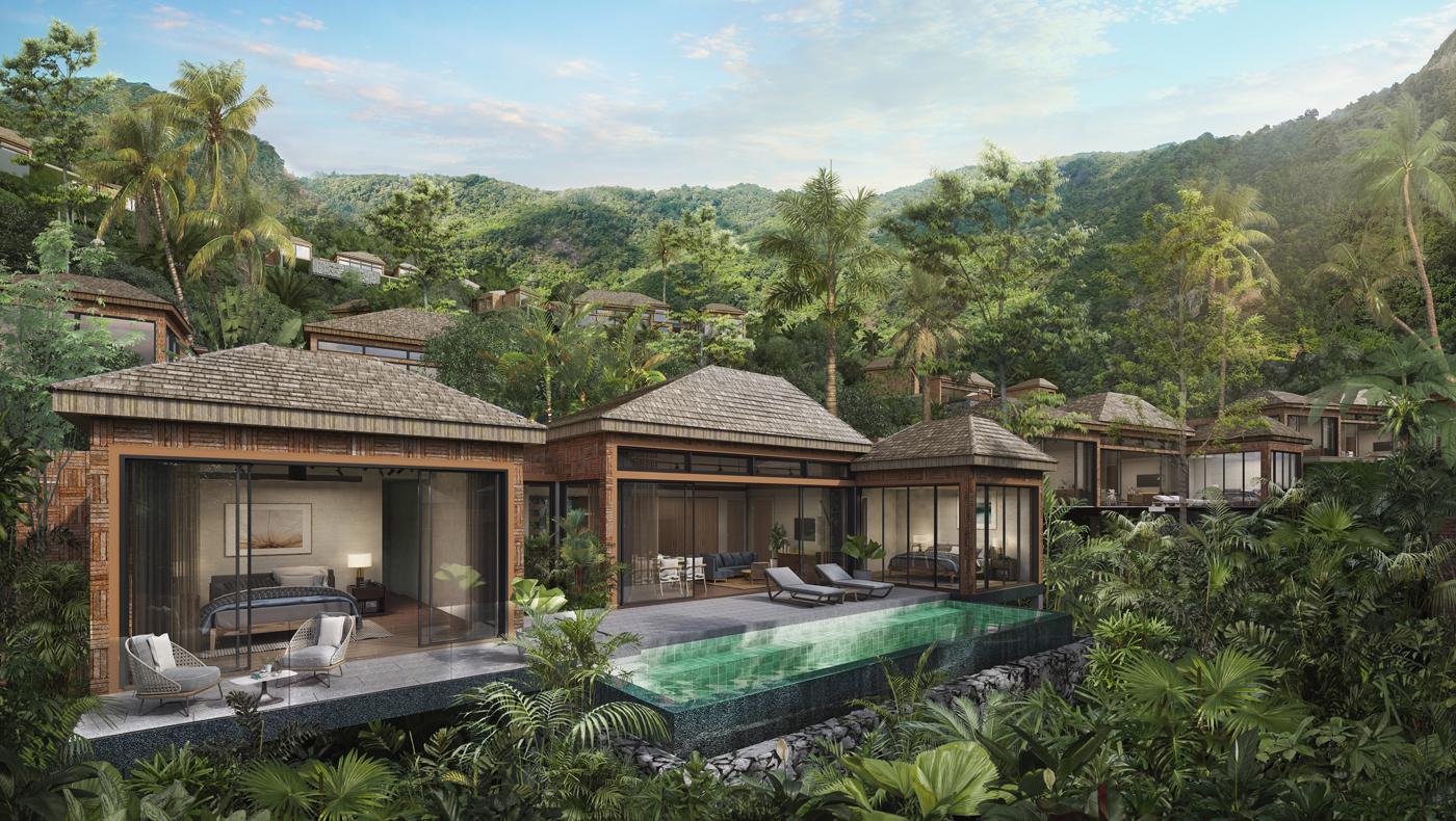 4 Bedroom pool villa in the retirement village in Kamala