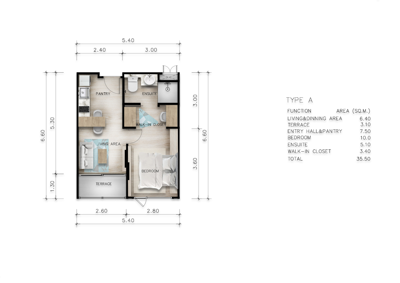 Type A One Bedroom Deluxe
