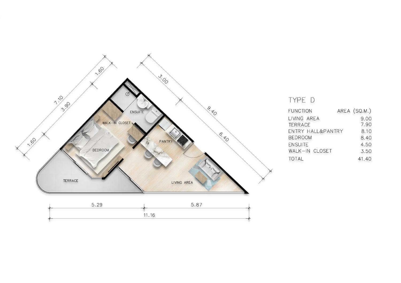 Type D One Bedroom Junior Suite