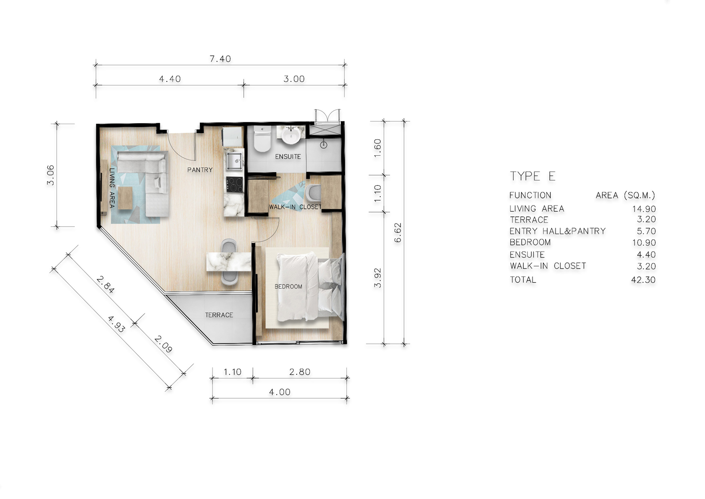 Type E One Bedroom Junior Suite