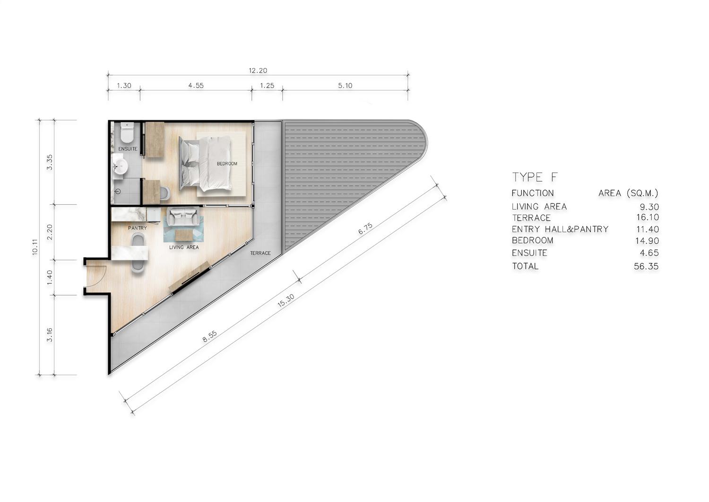 Type F One Bedroom Master Suite