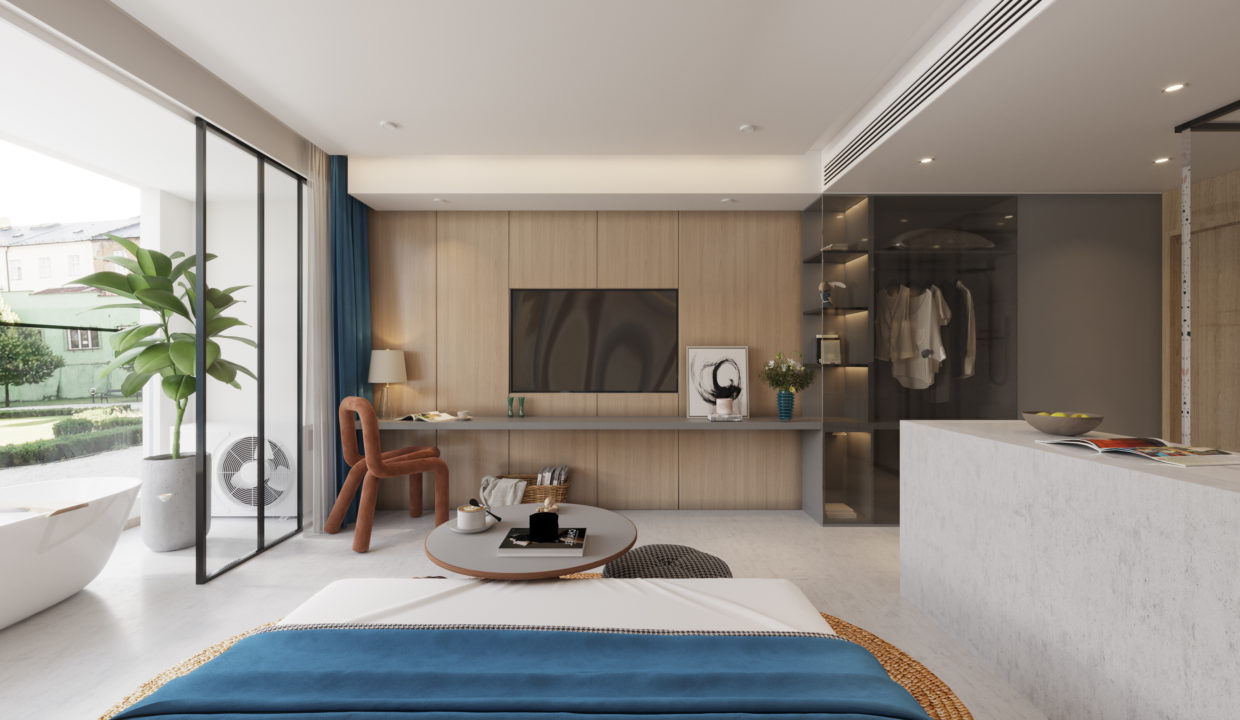 4. Residence Option B - View from bed