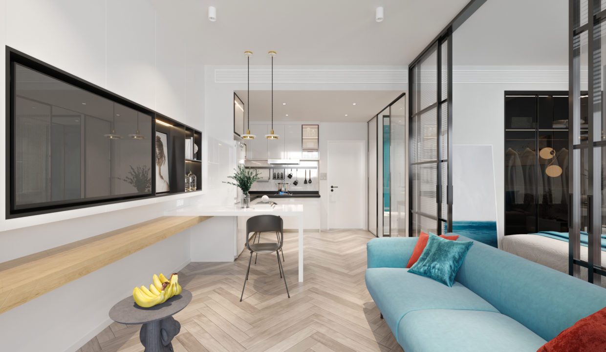 4.Residence Option A - Living area