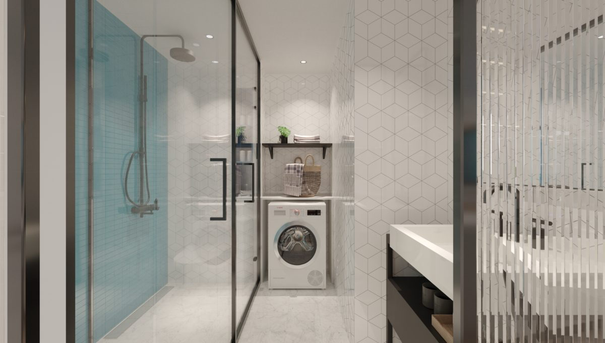 8.Residence Option A - Bathroom and washing Machine