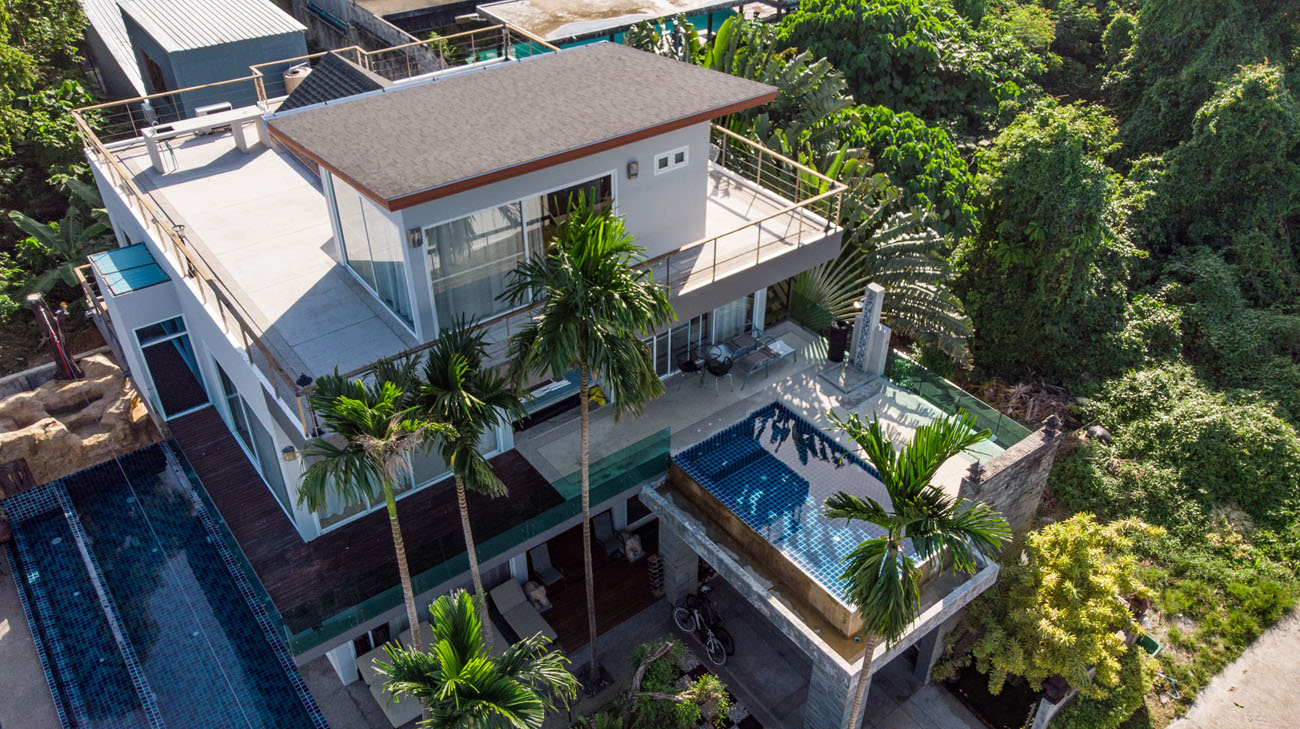 8 Bedroom Ocean View Pool Villa in Rawai