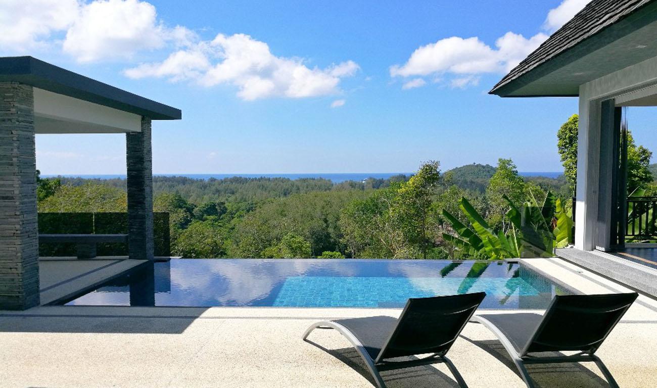 Ocean View Overlooking Villa in Layan