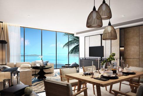 Living Area Pool Villa B