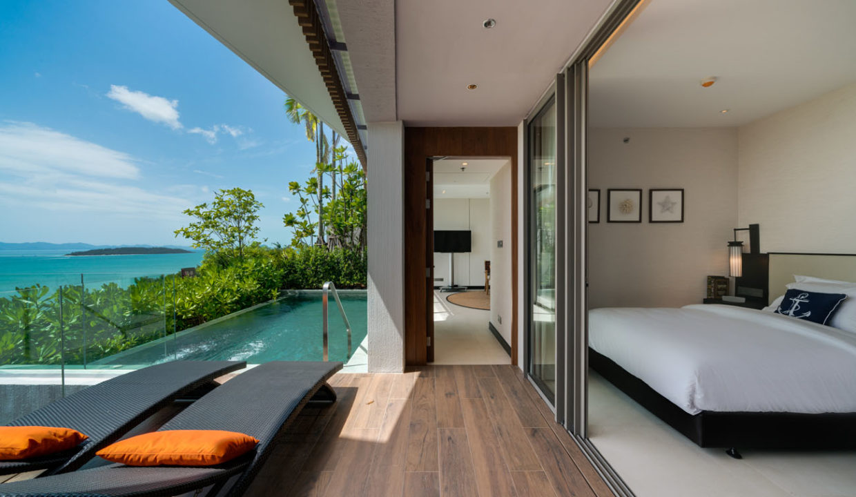 Pool Villa A_Bedroom with Pool Access and view