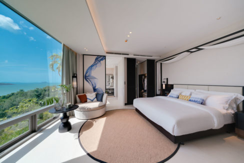Pool Villa A_Bedroom with Seaview
