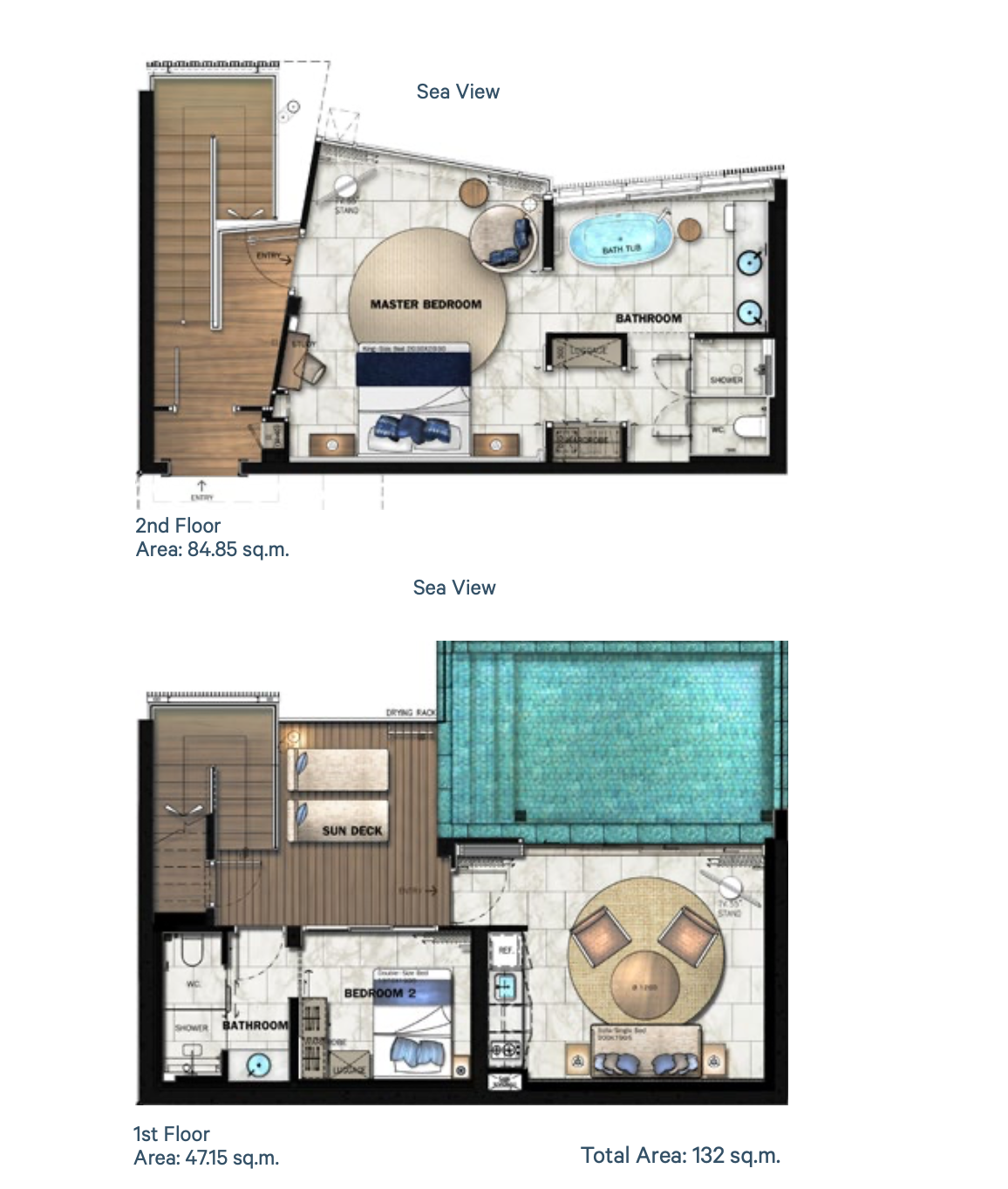 Floor Plan Pool Villa A