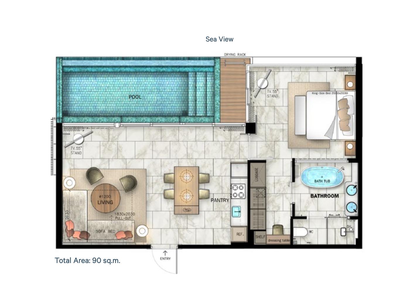 Pool Villa C Floor Plan