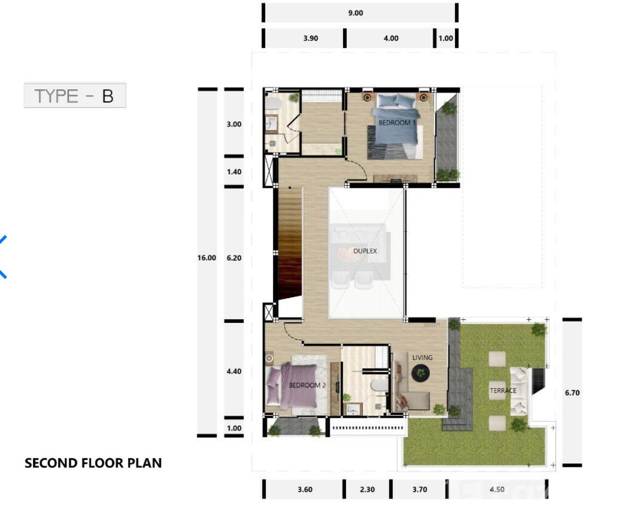 Type B 2nd floor
